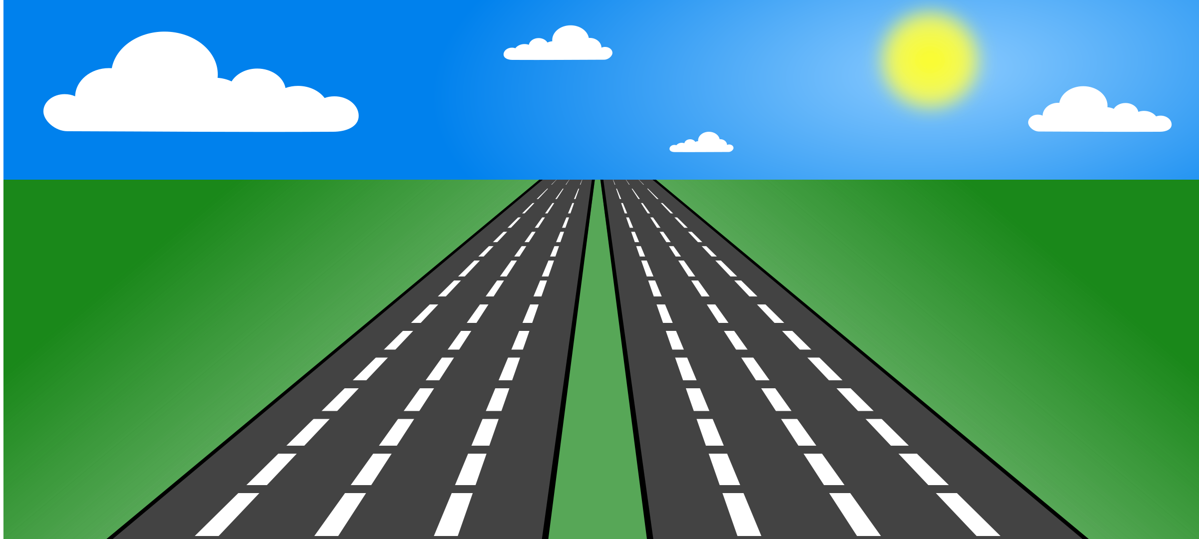 Road clipart open road #13