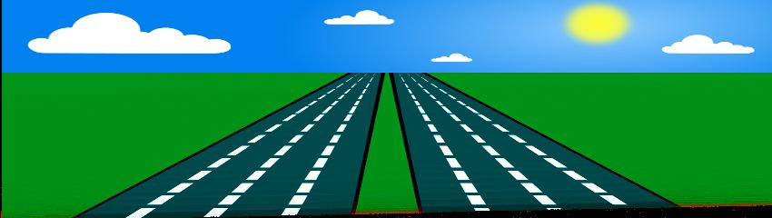Road clipart open road #12