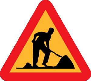 Road clipart road construction Clker  clip Work vector