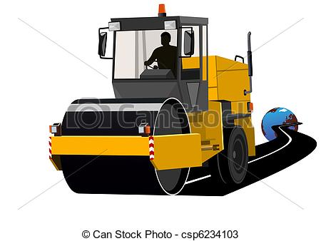 Road clipart road construction Of Construction  Construction machinery