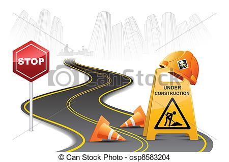 Road clipart road construction Construction Road Clip Road Construction