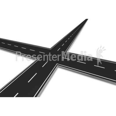 Road clipart road intersection #5