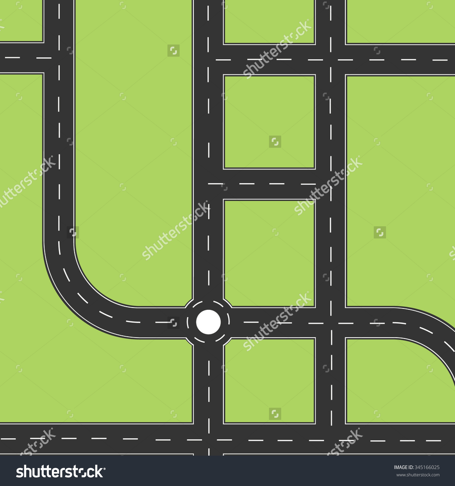 Asphalt clipart curvy road City collection view clipart road