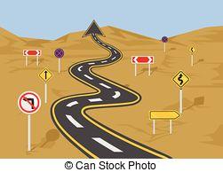Road clipart wavy #4