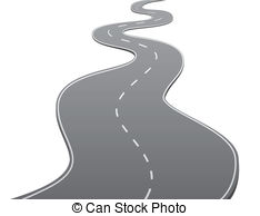 Road clipart wavy #5
