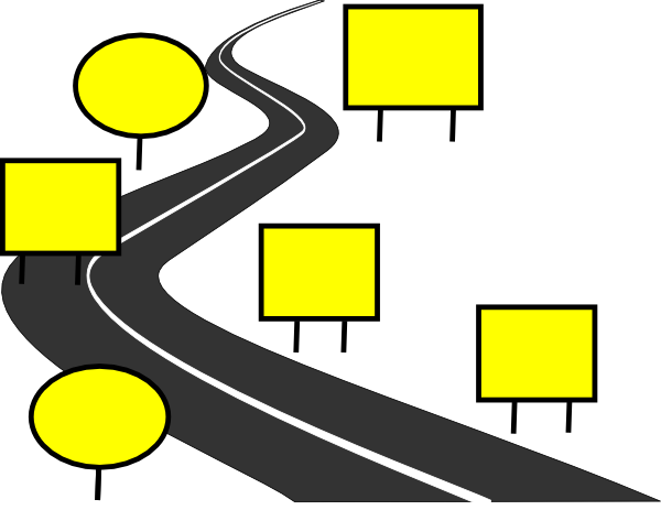 Highway clipart road map Free Clipart Graduates Winding road