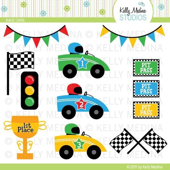 Roadway clipart car rally Digital best Boys:RaceCar Cards Crafts