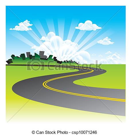 Drawn roadway road background Search  the Road csp10071246