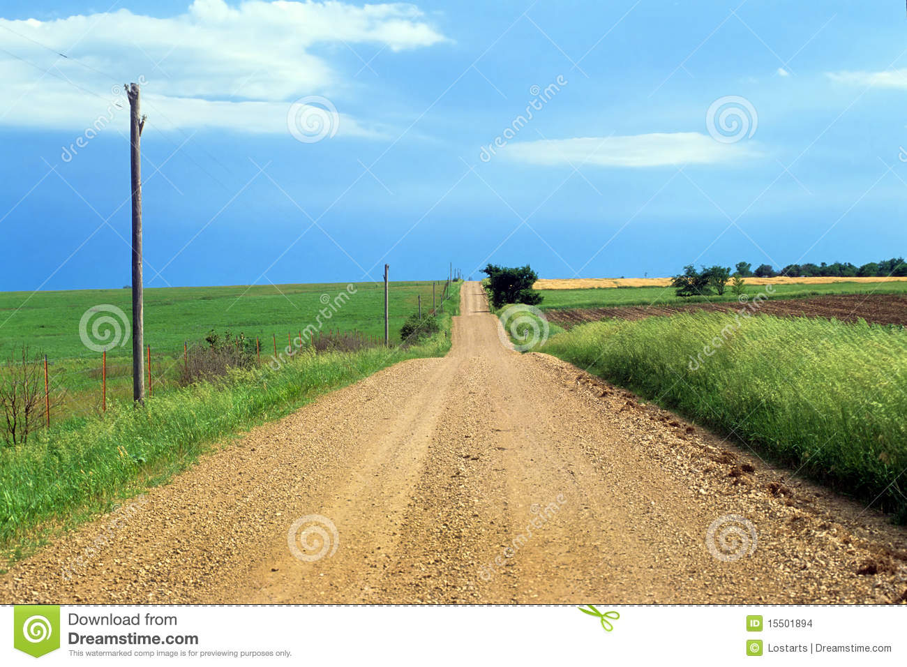 Road clipart gravel road #1