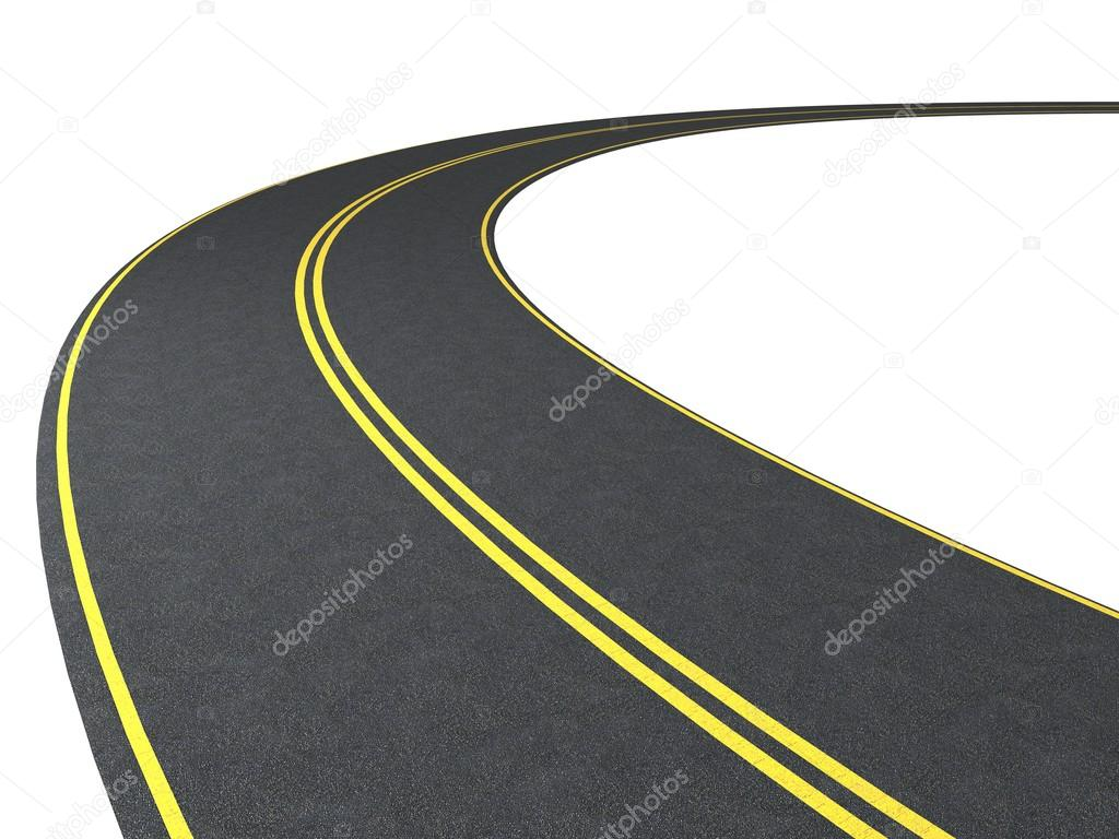 Roadway clipart race track road White Stock on com Road