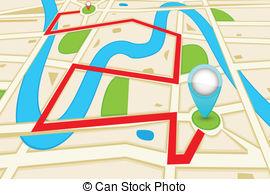Roadway clipart road map Clip Road Graphics Map vector