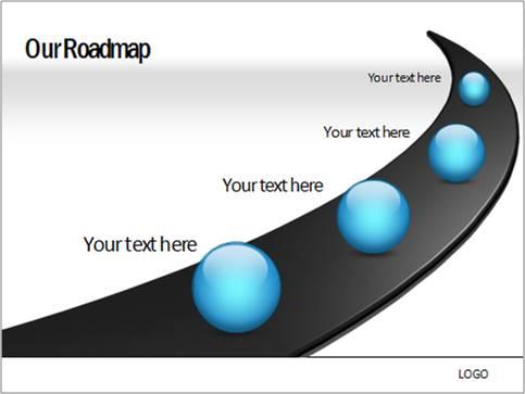 Drawn road road milestone Milestones PowerPoint with roadmap in