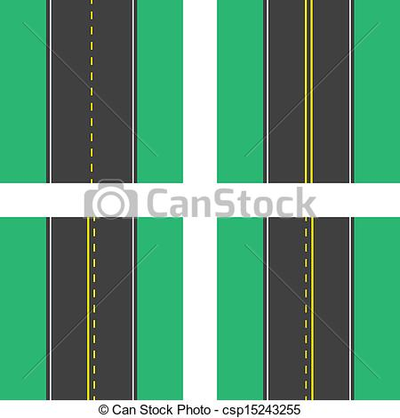 Drawn roadway vector Lines Vector  Top of