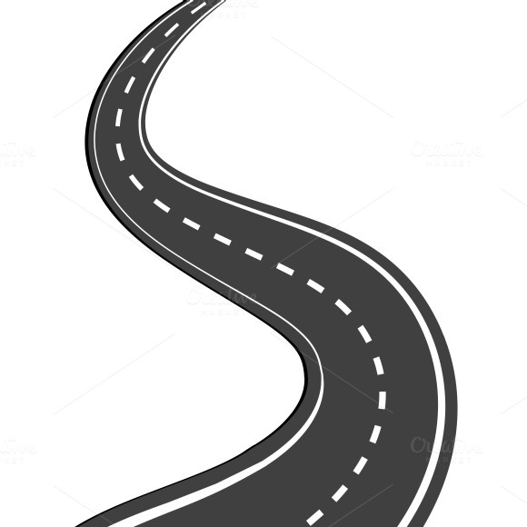 Road clipart winding path #5