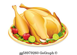 Roast clipart chiken Stock roast Holiday Whole Clip