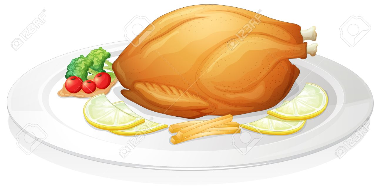 Roast clipart chiken Clipart chicken Stock roast And