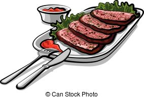 Roast clipart cooked steak #10