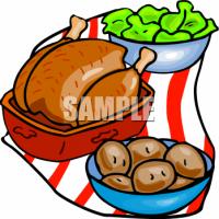 Roast clipart diner Clipart Art Chicken Dinner Rotisserie