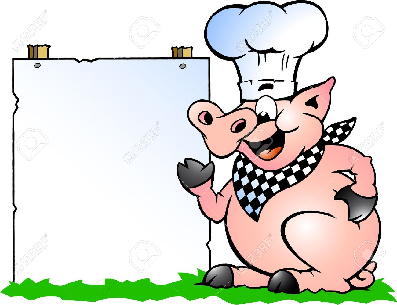 Roast clipart pig bbq Hand Collection pig drawn