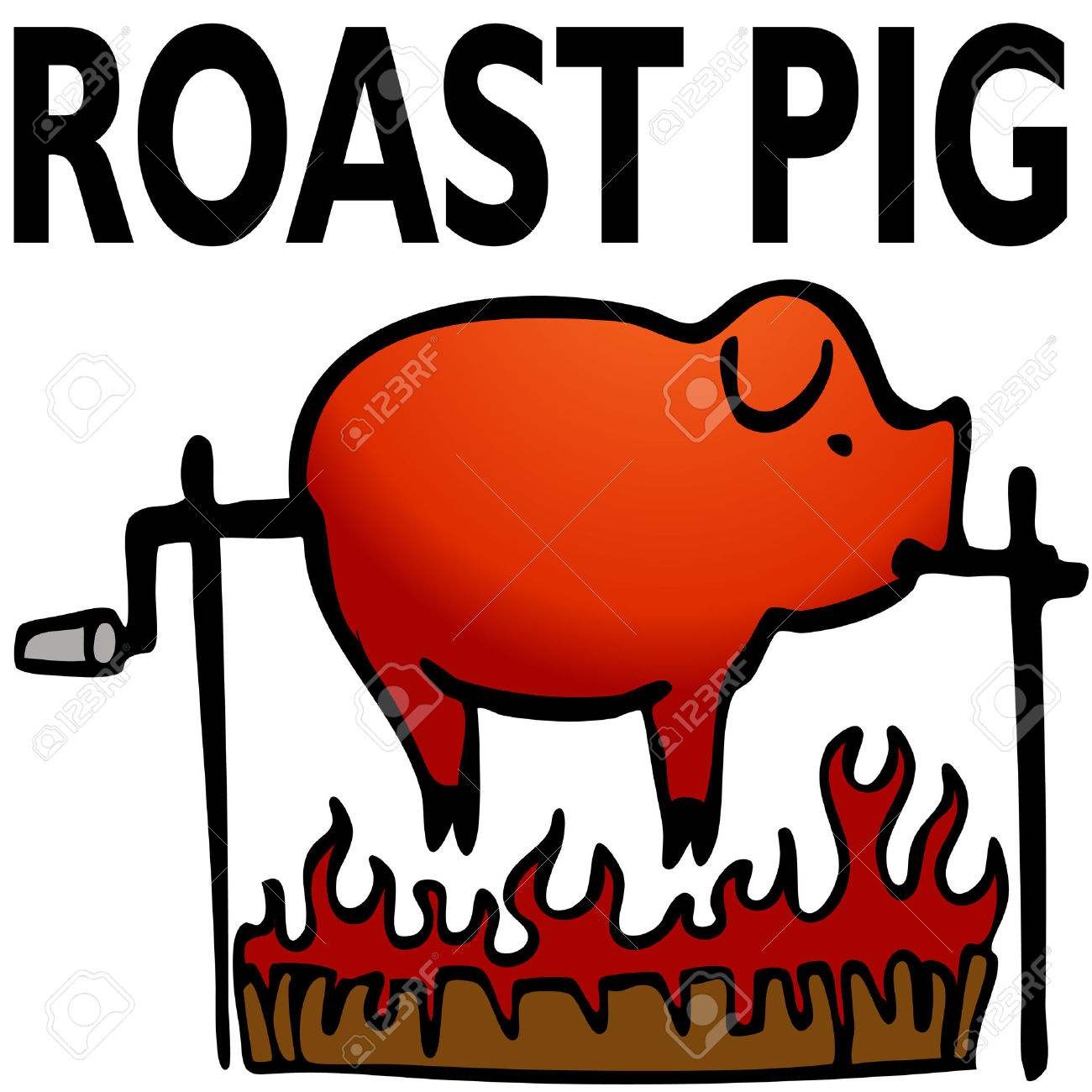 Roast clipart pig bbq Pit roast Clipart Style clipart