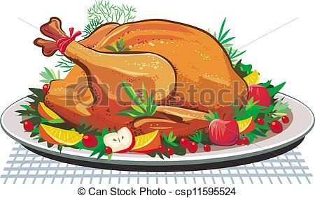 Turkey clipart plate #2