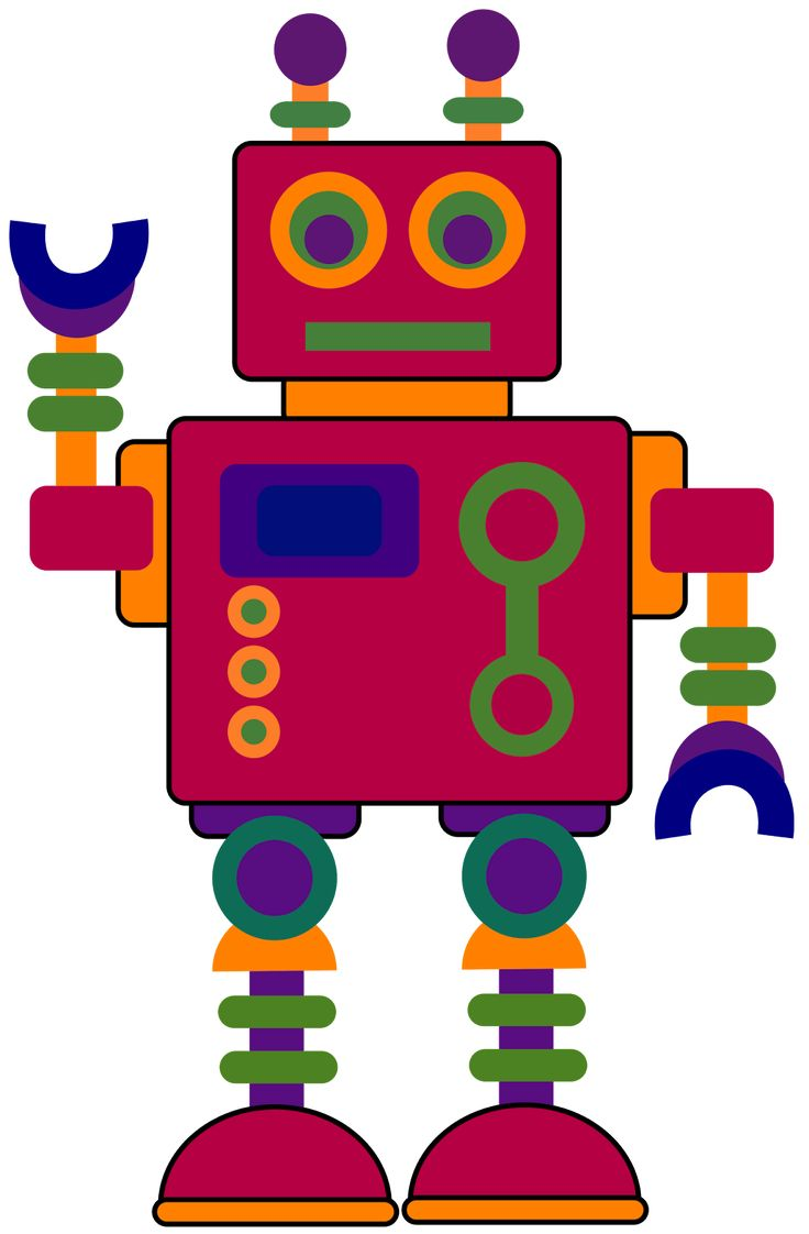Red Eyes clipart robot #7