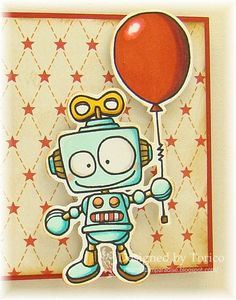 Robot clipart balloon With or Robot Etsy