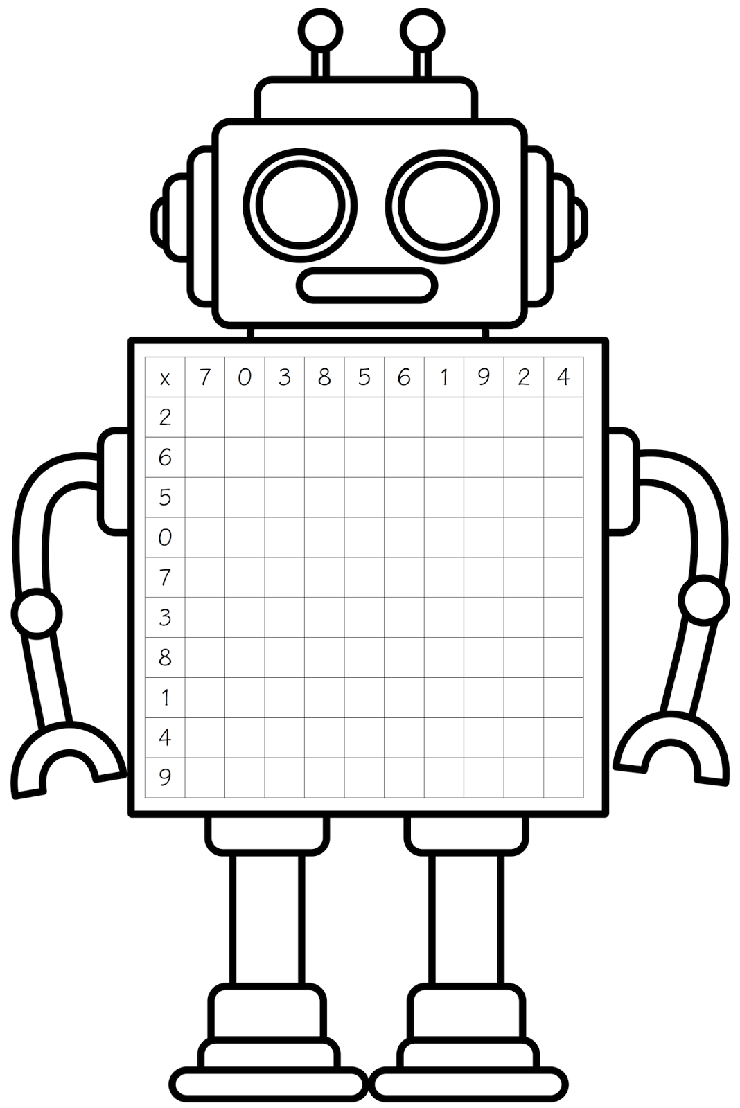 Robot clipart black and white Www Clip The Clipart Black