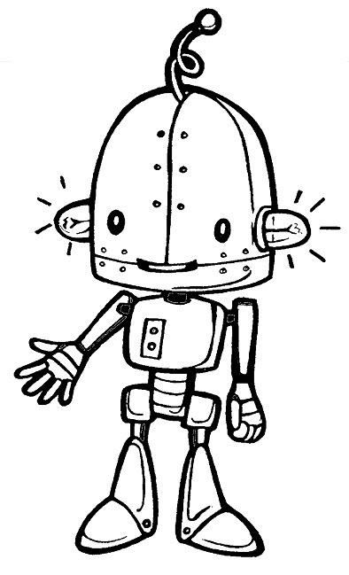 Robot clipart black and white Robot Phillip Clipartist Black Day