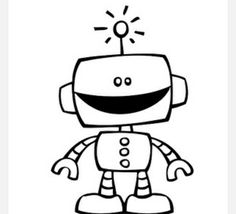 Robot clipart black and white Products robot Alex a about