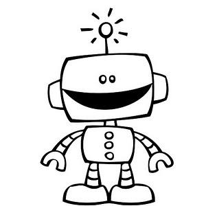 Robot clipart black and white Images robot Pinterest best 188