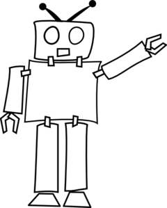 Robot clipart black and white At Clip com online Robot