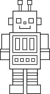 Robot clipart black and white – black 4800 images white