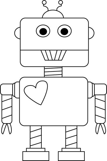 Robot clipart black and white Clipart clipart and Download and
