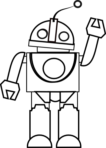 Robot clipart black and white Best Clipart Clipart Free And