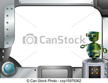Robot clipart border Robot csp15979362 frame  a