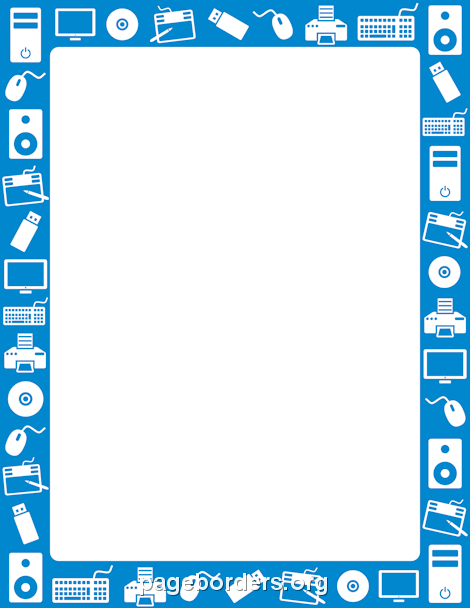 Robot clipart border Page Free Vector and Technology