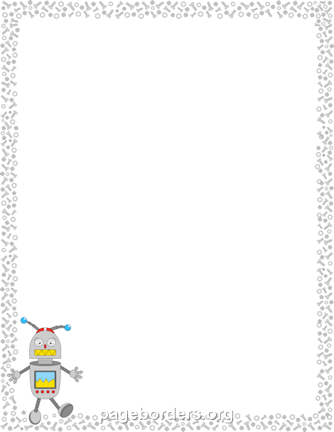 Robot clipart border And Border: Graphics Clip Page
