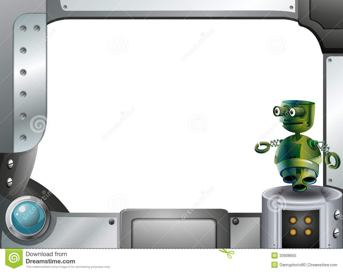 Robot clipart border Robot border Clipart border Download