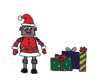 Robot clipart christmas (61+) robot Etsy Clipart clip