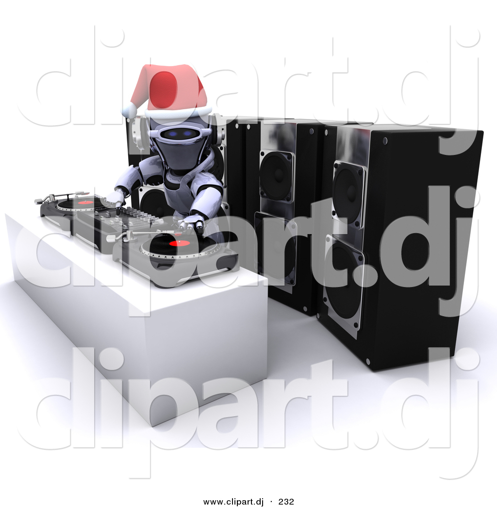 Robot clipart christmas Clipart Dj Clipart Dj Robot