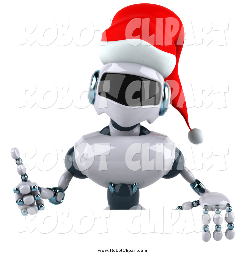 Robot clipart christmas Sign over Free Holding Robot