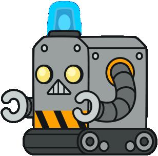 Robot clipart comic Cute Cartoon Robot Art Clip