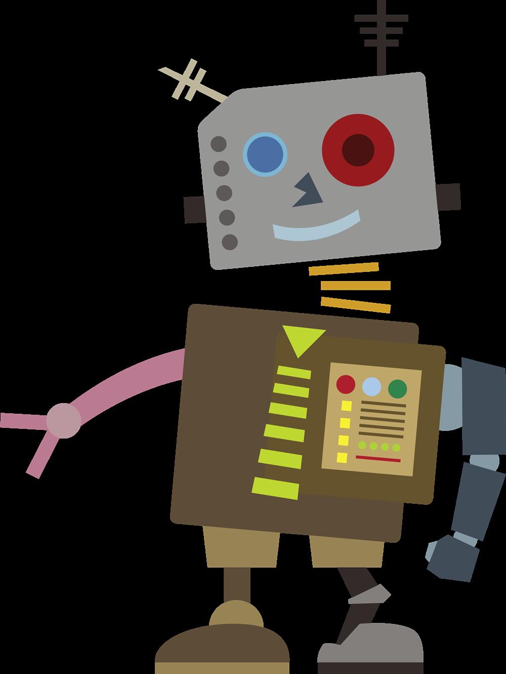 Robot clipart comic Can use wacky robot Clip