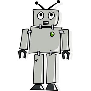 Robot clipart comic Robot clipart of robot gif)