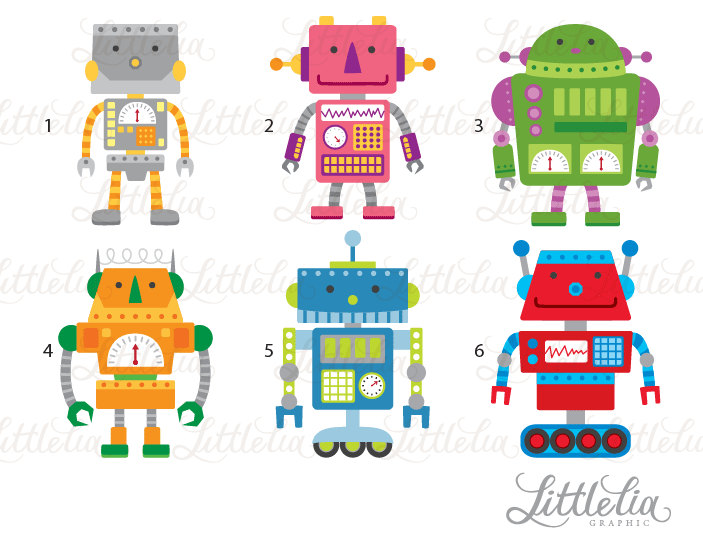 Iiii clipart robot 15066 a Cute LittleLiaGraphic from