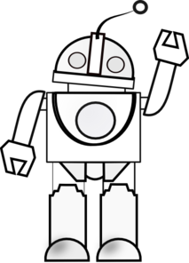 Traffic clipart robot Robot White Black Robot Clipart