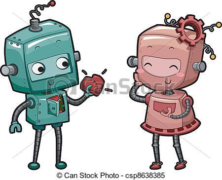 Robot clipart female #4
