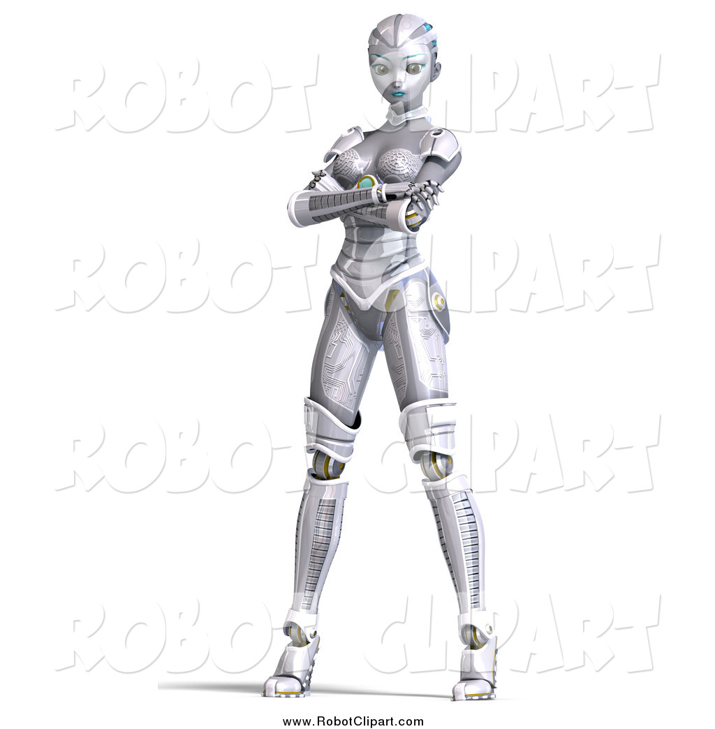 Robot clipart female Stock Robot Stock Woman Free