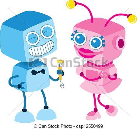Robot clipart female #7